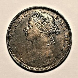 1884-Great-Britain-Penny-Queen-Victoria-KM-755-High-Grade-2657