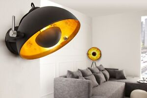 Applique-murale-Cinema-or-noir-motif-retro-lampe-lampe-spherique-neuf