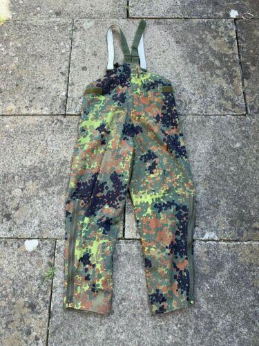 Windproof /& Breathable Waterproof German Army Surplus Flecktarn MVP Salopettes