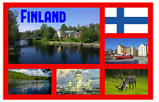 FINLAND - SOUVENIR NOVELTY FRIDGE MAGNET - SIGHTS / TOWNS - GIFT / XMAS - NEW