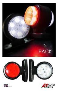 2-X-Led-Side-Light-Marker-Lamps-Scania-Volvo-Daf-Truck-Trailer-24-Volt-24v