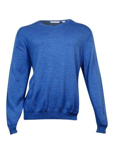 merino xxl Calvin Klein azul para cuello Suéter hombre en lana v con de qxYC4w