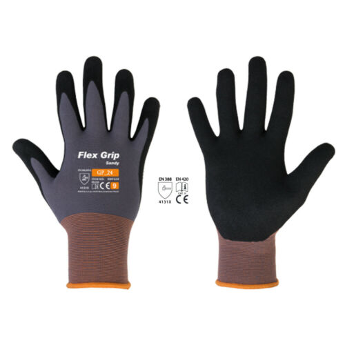 FLEX GRIP SANDY Handschuhe Arbeitshandschuhe Montagehandschuhe Nitril Gr.7-11