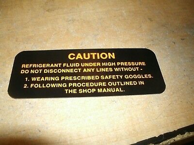1955-1963 OLDSMOBILE HOLIDAY SUPER EIGHTY EIGHT 88 A//C COMPRESSOR CAUTN DECAL