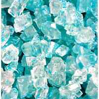 Light Blue Cotton Candy Rock Candy Crystals On Strings 3 Lb