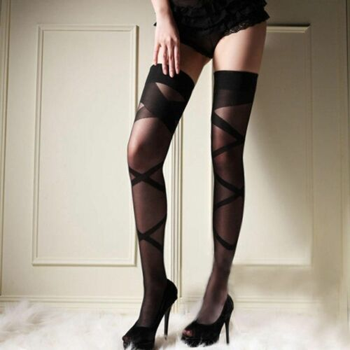 Lace Top Stockings Thigh-Highs stripes Stockings Tights Hosiery Club 2018 New