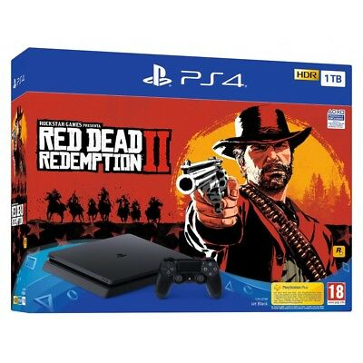 PS4 1TB + RED DEAD REDEMPTION 2 CONSOLA PLAYSTATION 4 CON JUEGO