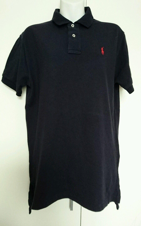 Ralph Lauren mens polo shirt navy bluee size S original VGC
