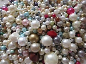 1000x Pearl Beads 6mm Imitation Pearl Round Beads for Jewelry Making Crafts