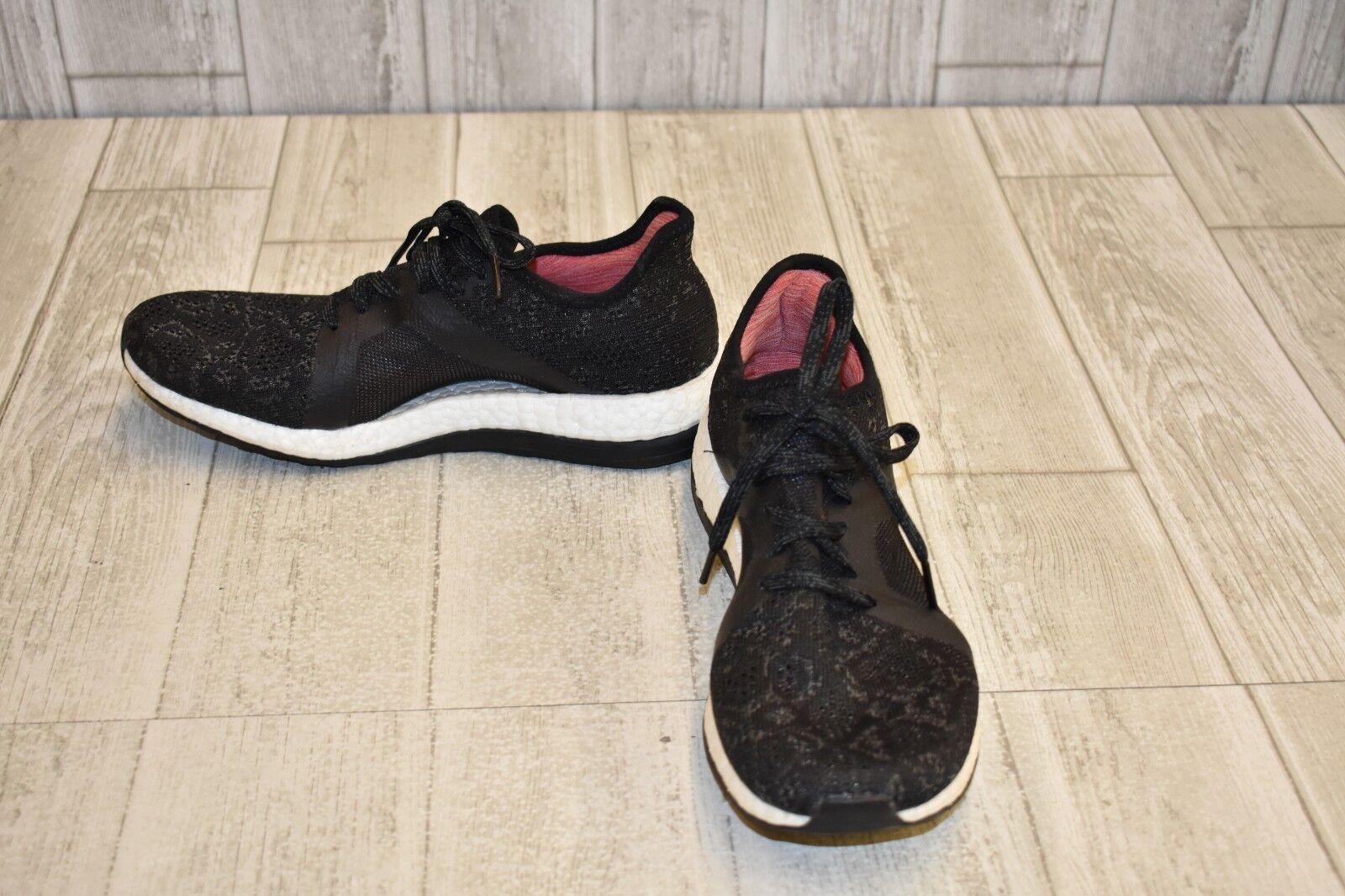 Zapatillas de running Adidas Pure Boost X Element - Talla 8.5 para mujer, negro / blanco
