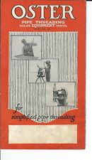 AS-027 - 1900's Oster Pipe Threading Equipment, Advertising Leaflet Illust