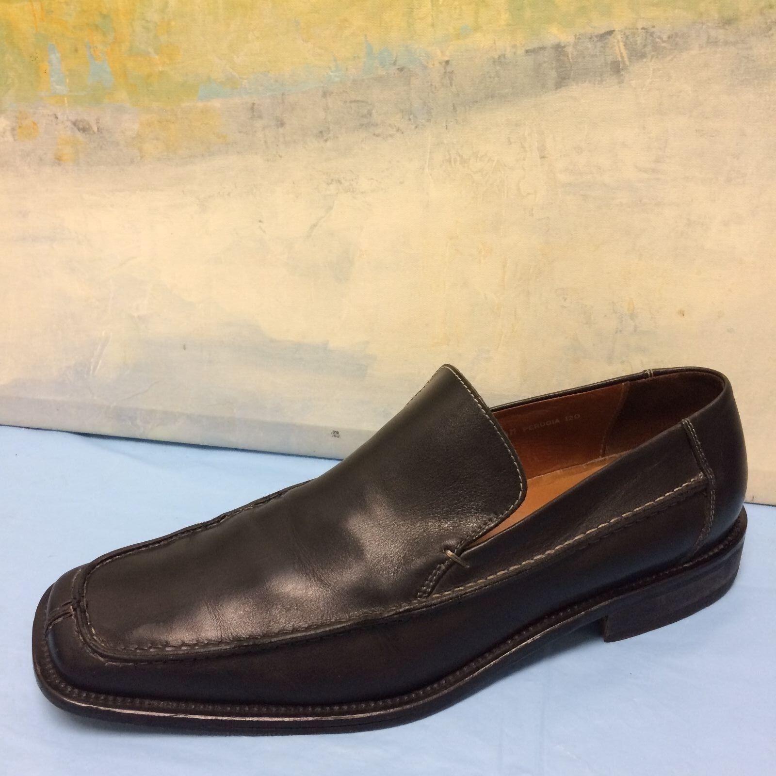 cc958a7492 DONALD J PLINER 120 Leather Loafers Sz 11.5 PERUGIA Black nnyhho1657 ...