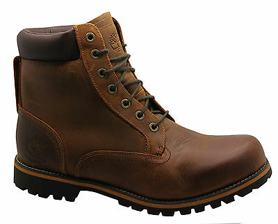 Timberland Rugged 6 Inch Mens Boots Waterproof Leather Brown Lace Up 74134 D1
