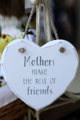 Mothers Make the Best of Friends Hanging Heart Plaque Mother's Day Sass /& Belle