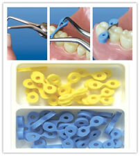 40 Pcs Dental Elastic Fixing Wedges Matrix Matrices Rubber Dam Wooden Composite
