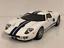 Ford-GT-40-1-43-Escala-Modelo-Coche-De-Juguete-En-Miniatura-Diecast-2002-Blanco-GT40 miniatura 1