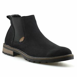 Mens-New-Smart-Formal-Chelsea-Dealer-Casual-Slip-On-Work-Ankle-Boots-Shoes-Size
