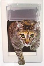 Pet Small Soft Flap Cat Door With Telescoping Frame 5in by 7in