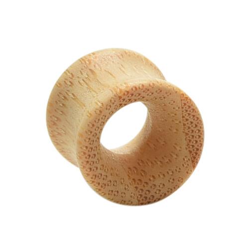 1//2 x Bamboo Wood Ear Plug Tunnel Expander Flesh ZYud Earring Gauges PiercingN!