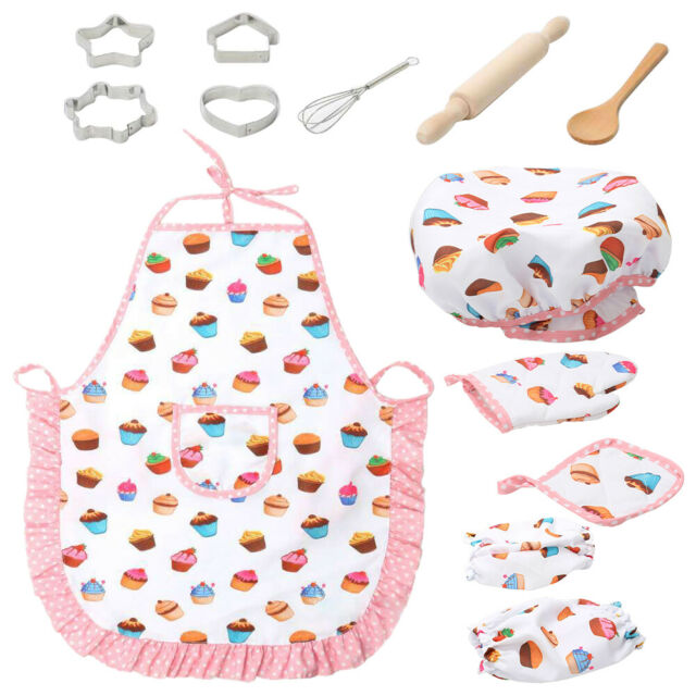 /'s Embroidery Diva Embroidered Children/'s Apron and Embroidered CHEF/'S Hat