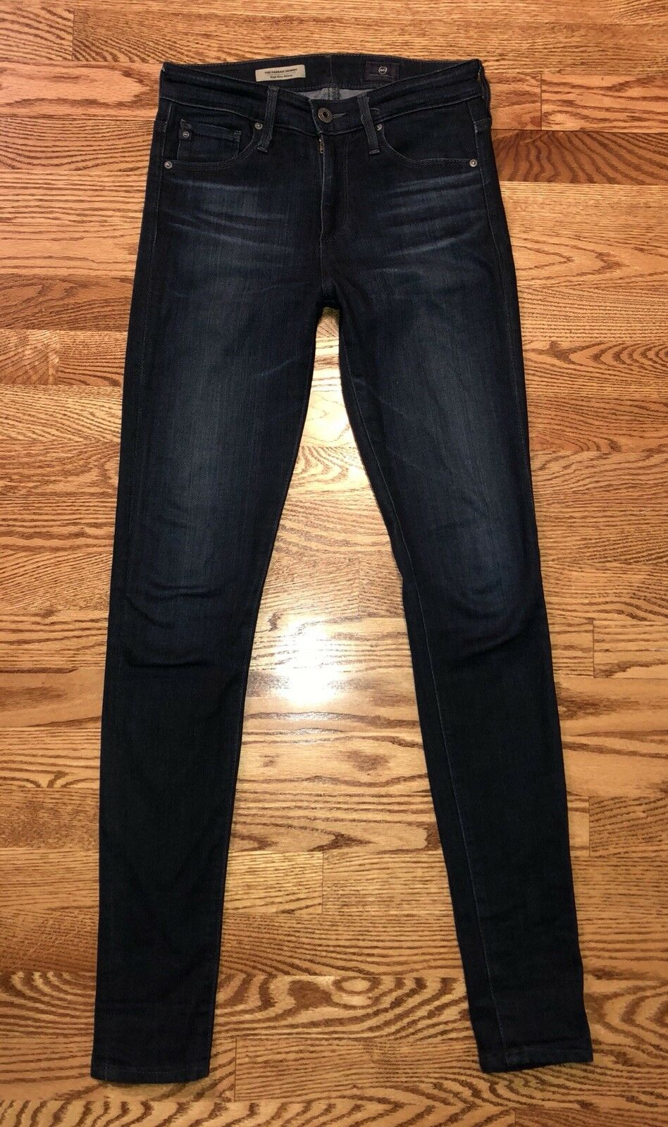 AG ADRIANO goldSCHMIED THE FARRAH HIGH RISE SKINNY JEANS 24 X 30 BRK WASH