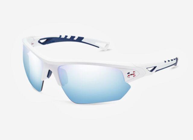 Under Armour UA TUNED™ Freedom Baseball Octane Sunglasses White RARE 8650094 NEW