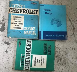 1974-Chevy-Corvette-Camaro-Chevelle-Monte-Carlo-Nova-Servicio-Manual-Del-Taller-Set
