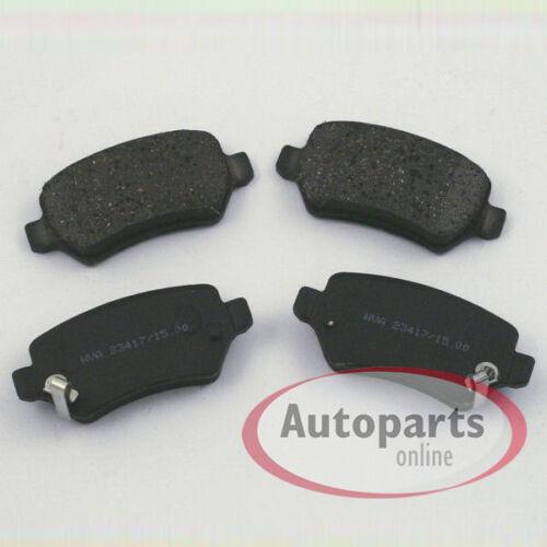 Bremsbeläge Bremsklötze Bremsen für hinten die Hinterachse* Opel Meriva