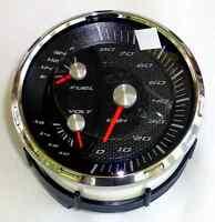 Faria Boat Multi-gauge Speedometer Fuel Voltage 80 Km/h Kilometers Gs0047a >new