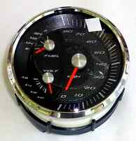 Faria Boat Multi-gauge Speedometer Fuel Voltage 80 Km/h Kilometers Gs0047a >new