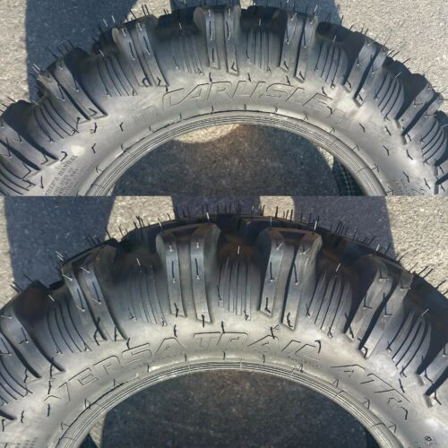 TWO 26x11.00R-12 26x11.00-12 26x1100-12 26//11 ATV TIRE Carlisle Versa Trail 6ply