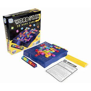 Wordstax Upwords Scrabble 3D Famille Orthographe Board Mot Carreau Jeu Jouet R03