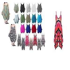 Ladies-Cami-Lagenlook-Romper-Drape-Baggy-Harem-Playsuit-Jumpsuit-Dress-Plus-Size