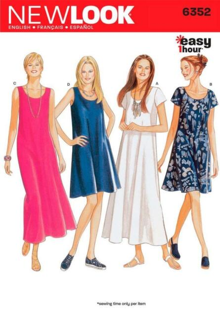 LOOK Sewing Pattern 6352 Misses Dresses Size 8-18 Uncut | eBay