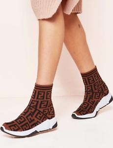 Ladies Wedge Sock Slip On Sneakers Women Jogging Pumps Comfy Classic Shoe