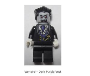 Lego Minifigure Goblin head with purple Torso Halloween