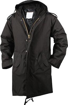 Black Military M-51 Fishtail Parka Jacket