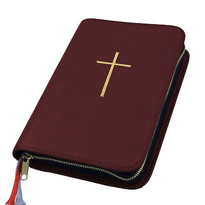 Gotteslob Hülle Gotteslobhülle Kunst Leder Weinrot Dunkelrot Rot Kreuz In Gold Ein BrüLlender Handel Bücherzubehör Buchhülle