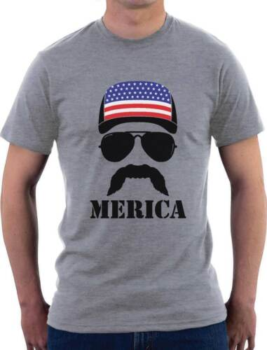 American Flag T-Shirt  Distressed Tee 4th Of July Trump Bacon Merica Vintage