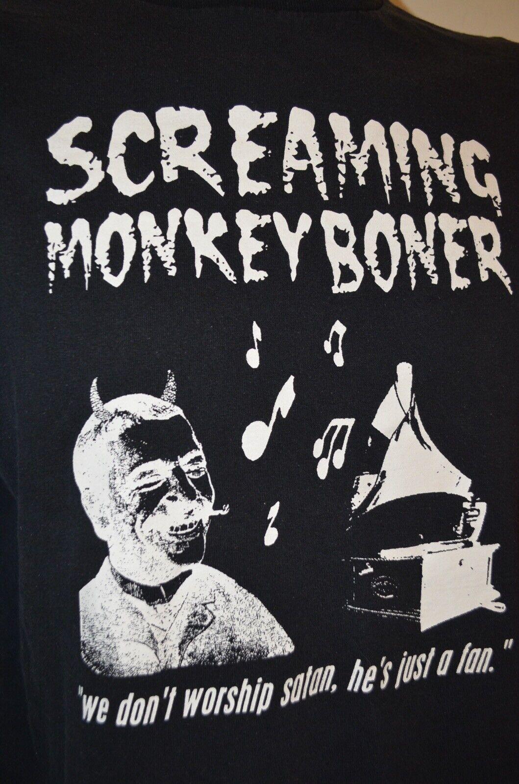 Screaming Monkey Boner Worship Satan NIN Metal Sy… - image 1