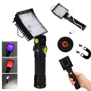 Rechargeable-COB-22-LED-Hand-Torch-Lamp-Magnetic-Inspection-Work-Light-Flexible