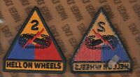Us Army 2nd Armored Division Hell On Wheels Armor Tank Patch M/e Type C