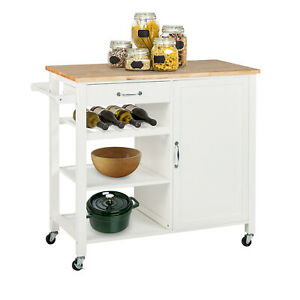 Kitchen-Island-Trolley-Cart-Utility-Dining-Storage-Cabinet-Dish-Serving-Rack
