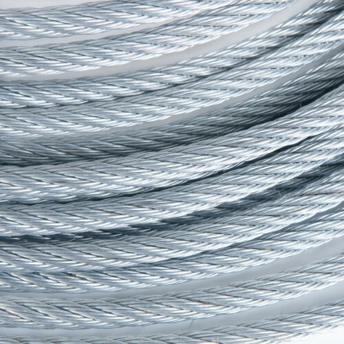 """3//16/"""" Galvanized Aircraft Cable Steel Wire Rope 7x19 100 Feet"""