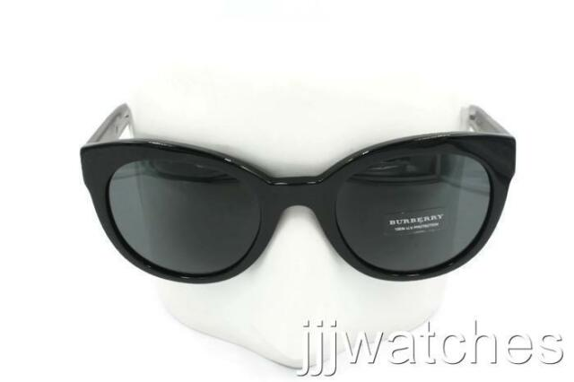 31b8941bb37e New Burberry Butterfly Polished Black Sunglasses Gray Lens BE4210 300187 52  $205