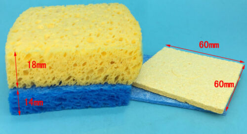 thick Blue Iron Tip Cleaning Sponge Universal Welding Solder Replacement Pad