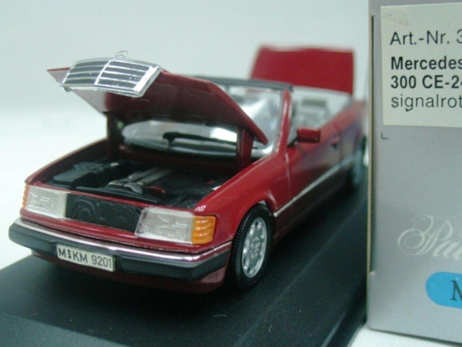 Wow extrêmement rare MERCEDES W124 300E Cabriolet Rouge Vin 1 43 Minichamps - 450 560
