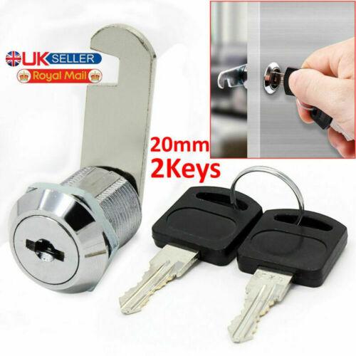 16//20//25//30mm Cam Lock Door Barrel Drawer Cabinet Mail Box Locker Cupboard 2Keys