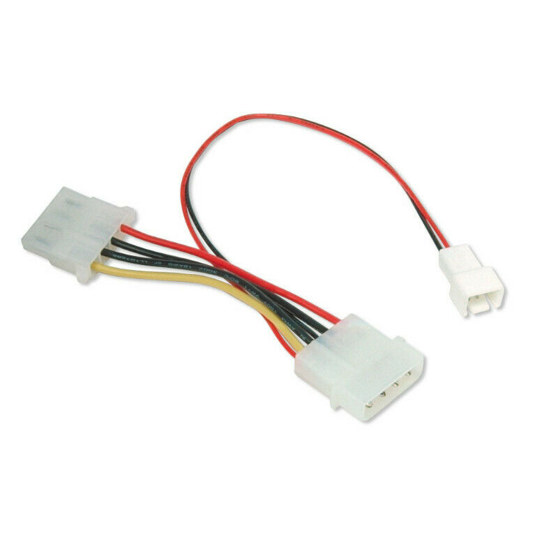 3Pin Fan Connector to 4Pin Molex, 6 months warranty (Refurbished)