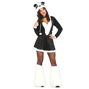 Carnevale Donna Costume Panda Adulto Guirca Vestito Sexy Animali T1JcFKl3